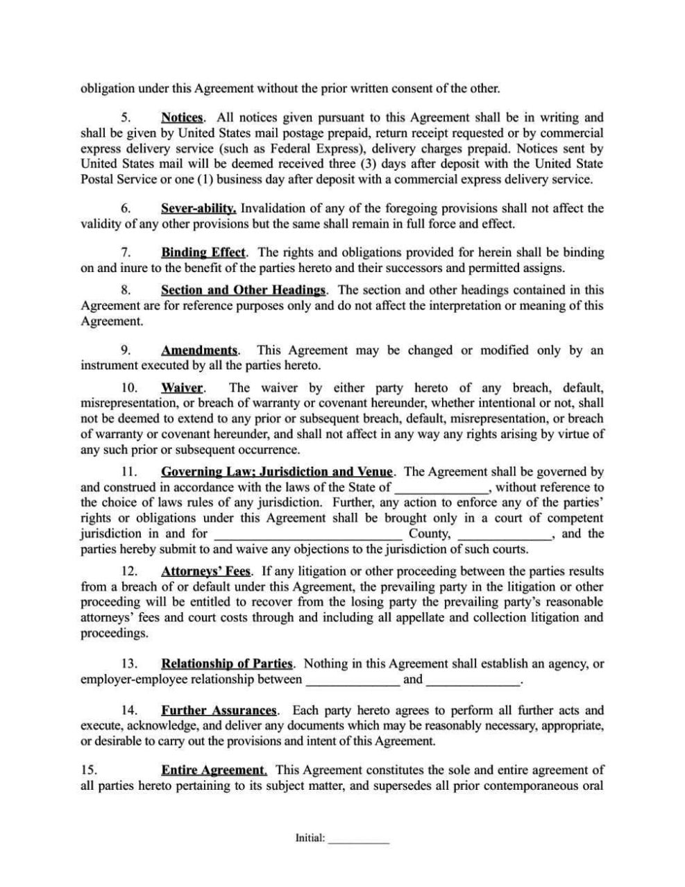 simple investment contract template - 28 images - 11 investment ...