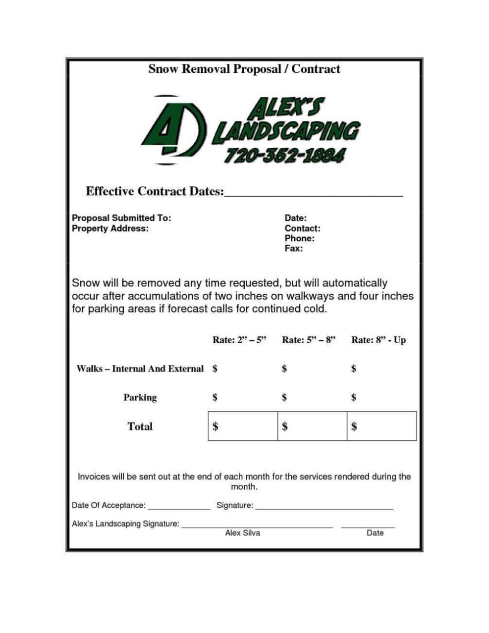 9 Lawn Service Contract Templates Free Word Pdf Documents