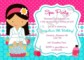 Spa Birthday Invitation Template