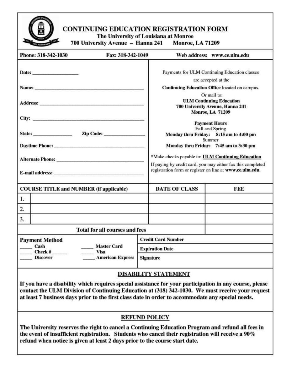Sport registration form template sampletemplatess for Sport registration form template