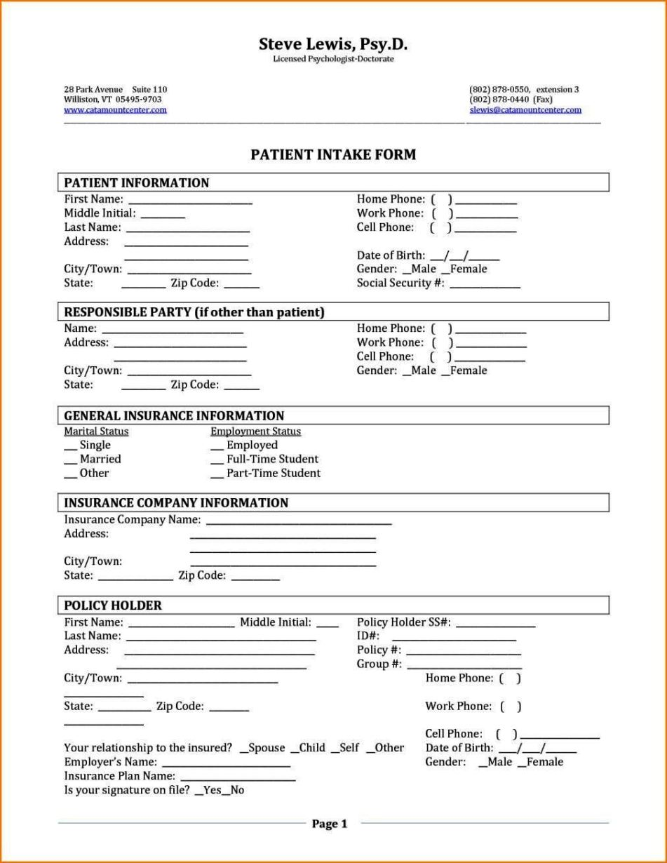 Student Intake Form Template Sampletemplatess Sampletemplatess