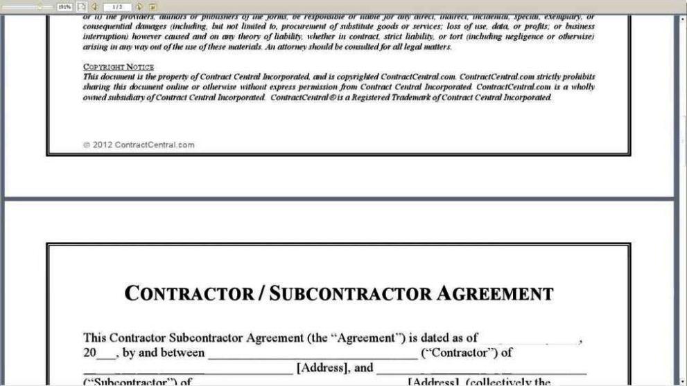 Subcontractors agreement template sampletemplatess for Find subcontractors