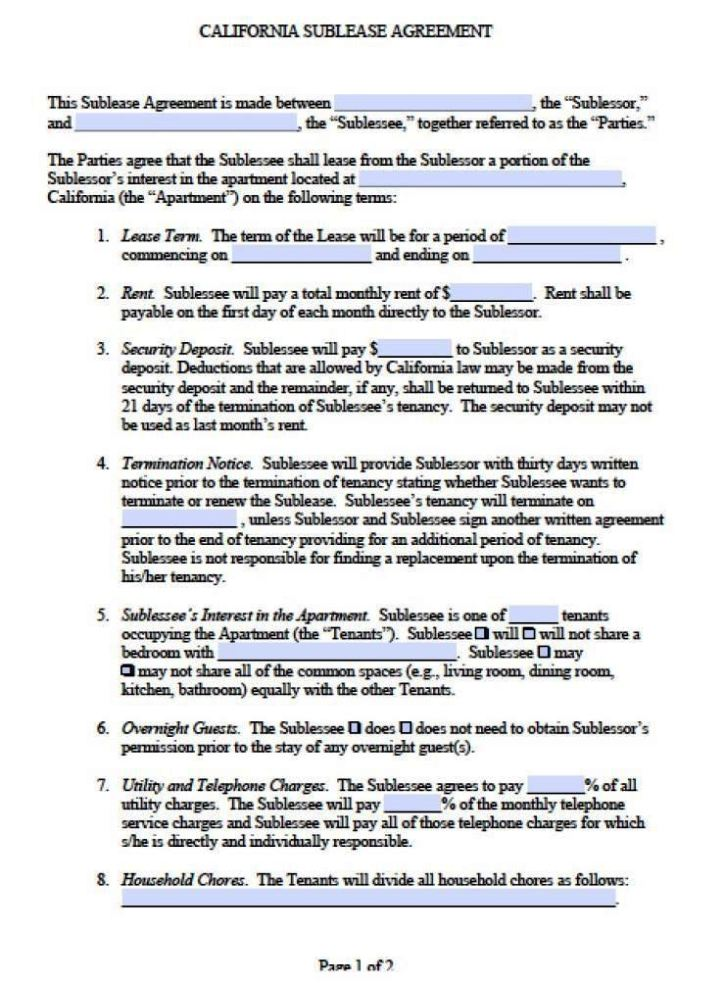 Snap Template Subtenant Agreement Template Photos On Pinterest