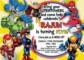 Superhero Birthday Invitations Templates