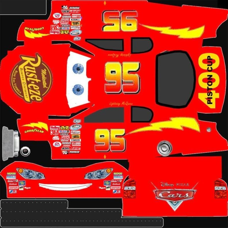 Template For Lightning Mcqueen Cake SampleTemplatess