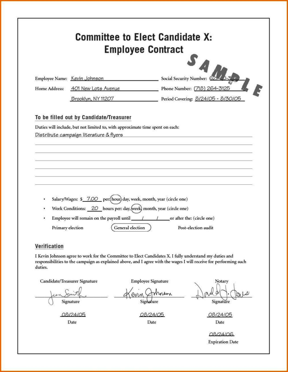 Temporary contract of employment template for Temporary job contract template