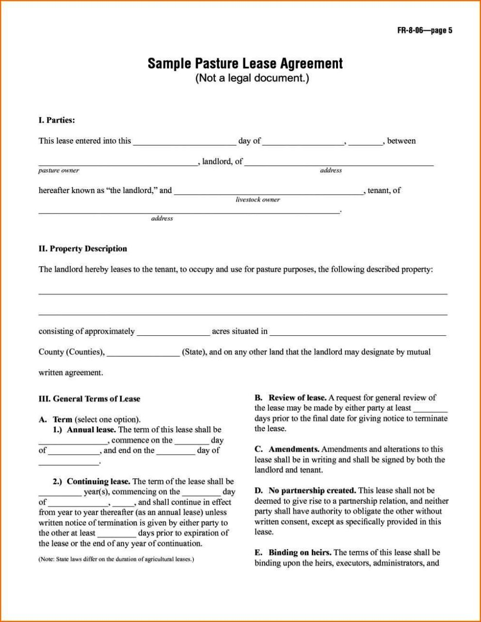 rental house contract template free
