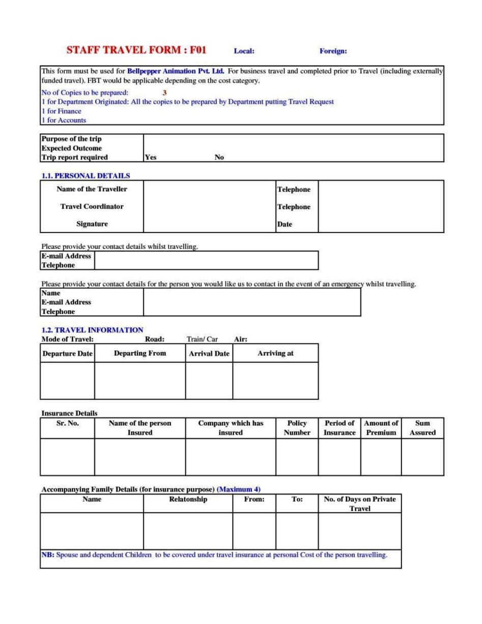 travel request form template word sampletemplatess. Black Bedroom Furniture Sets. Home Design Ideas