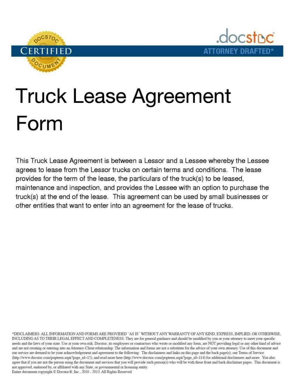 Truck Rental Agreement Form Mersnoforum