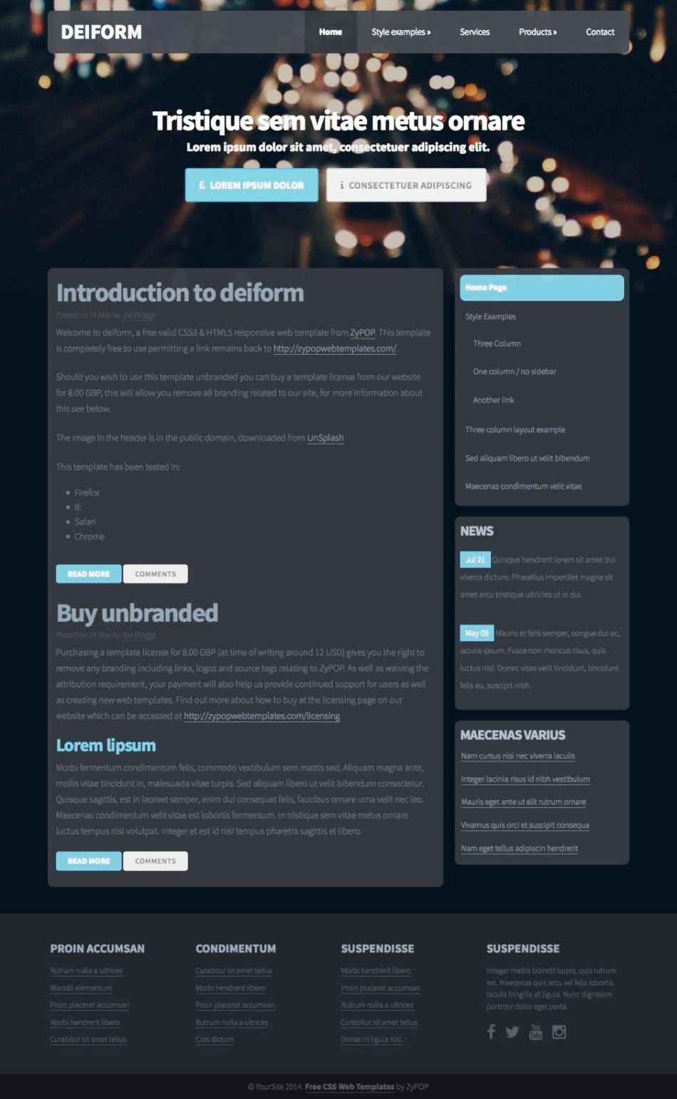 Website style sheet template sampletemplatess for Responsive stylesheet template