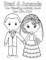 Wedding Coloring Book Template