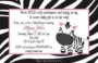 Zebra Invitation Template Free
