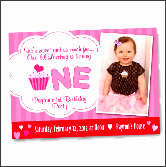St Birthday Party Invitation Template SampleTemplatess - Party invitation template: 1st birthday party invitation templates
