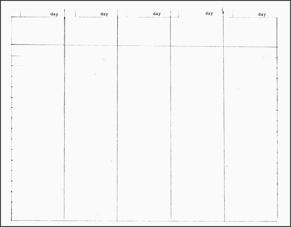 6  5 day trip planner layout