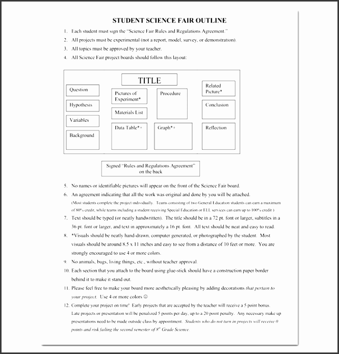 9 academic project outline template