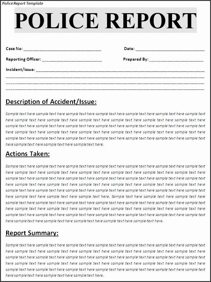 7 accident report template - sampletemplatess