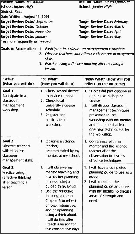 how to write an action plan for teachers