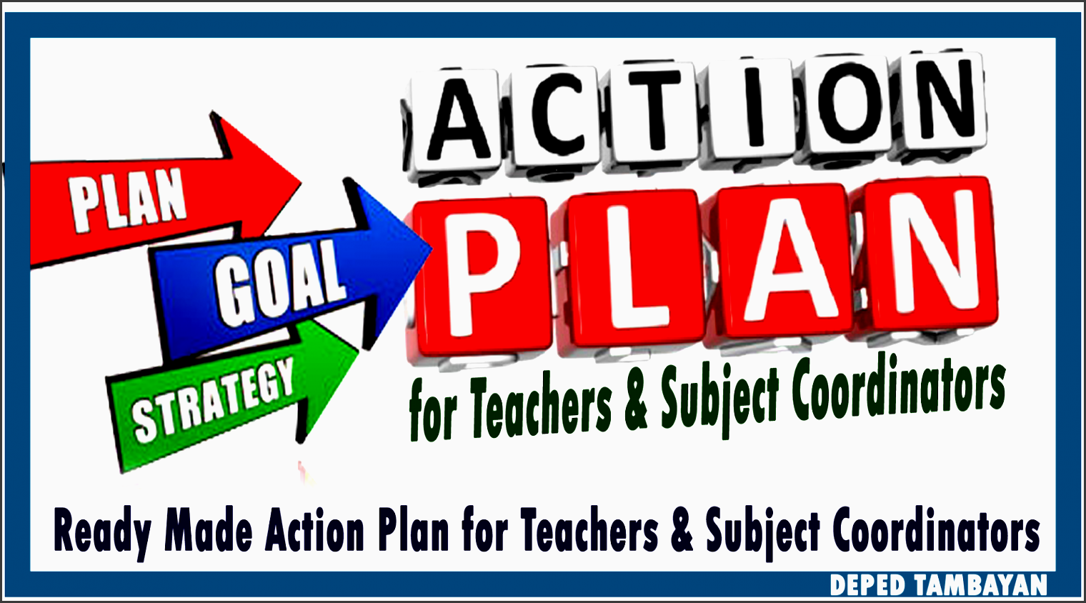 sample action plan for teachers and subject coordinators