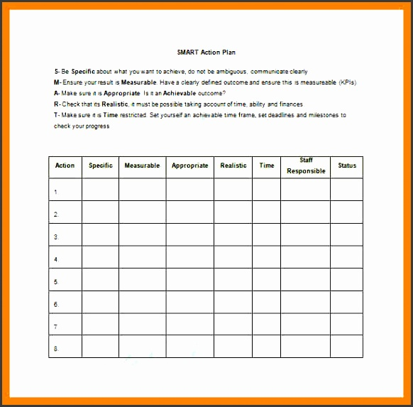 Action Plan Sample Template  OloschurchtpCom