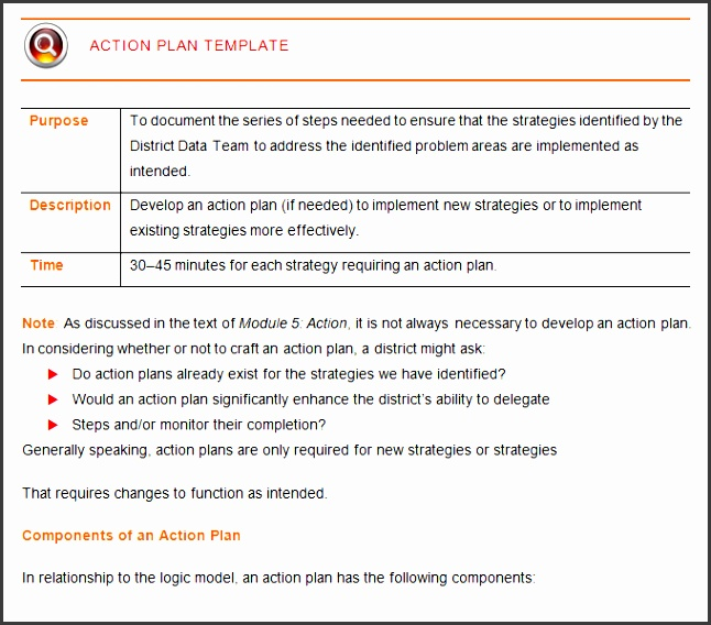 corrective action plan template word
