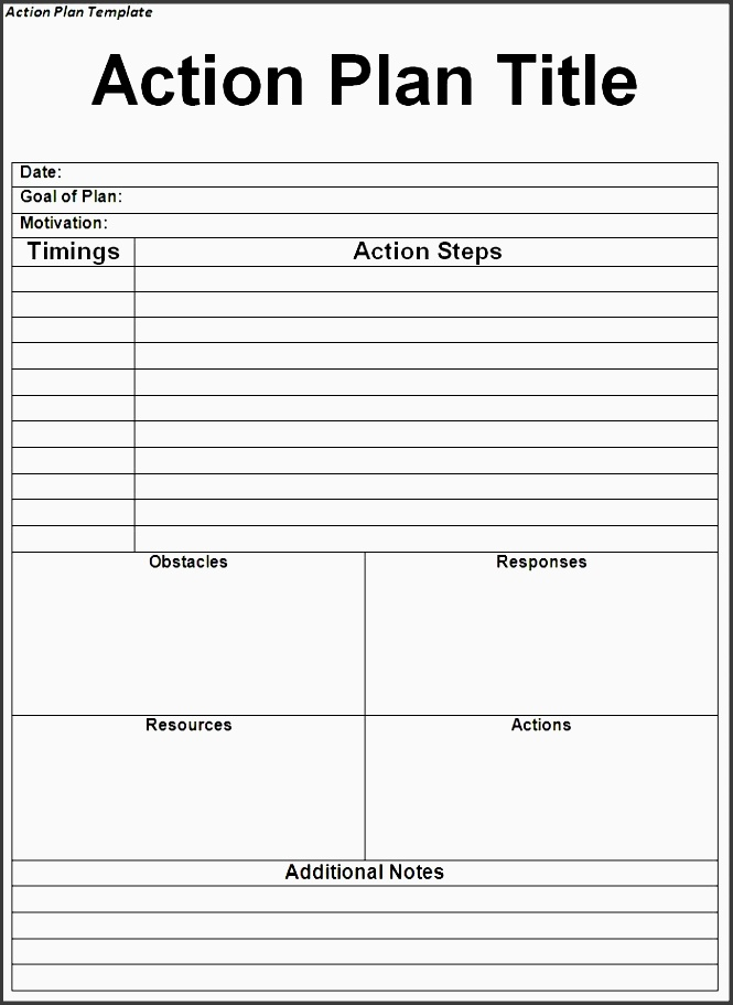 Action Plan Template Pdf  Sampletemplatess  Sampletemplatess