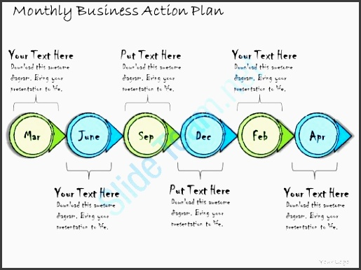 1113 business ppt diagram monthly business action plan powerpoint template slide01