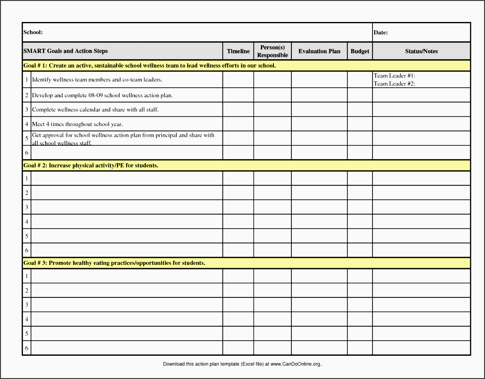 action plan template 2008 09 excel ramgra42