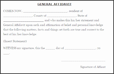 33 Free Affidavit Form Templates In Word Excel Pdf  Affidavit Of Fact Template