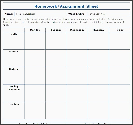 Assignment Daily Planner Template  Sampletemplatess