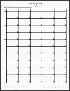 blank daily assignment bw free daily assignment printable assignment sheet