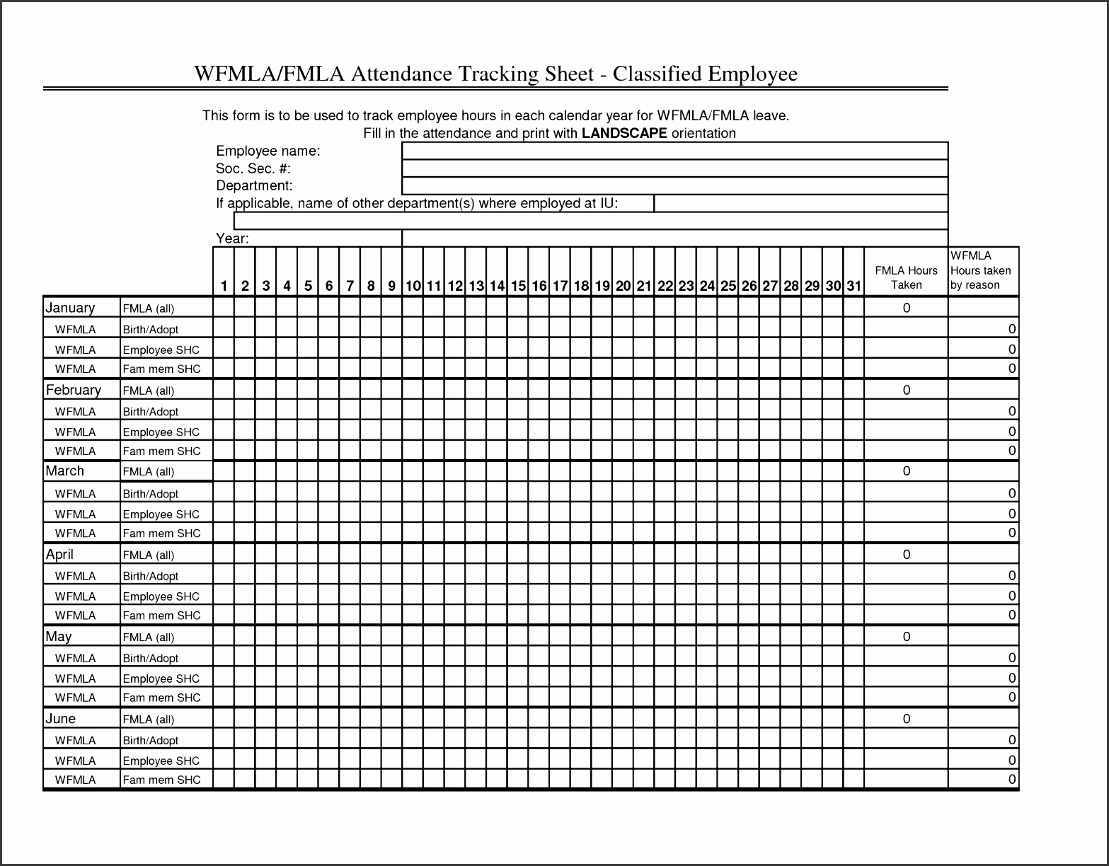 attendance sheet resignation letter free training printable of eviction sample receipt employee forms templates