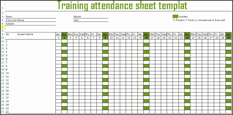 training attendance sheet attendance template xlx