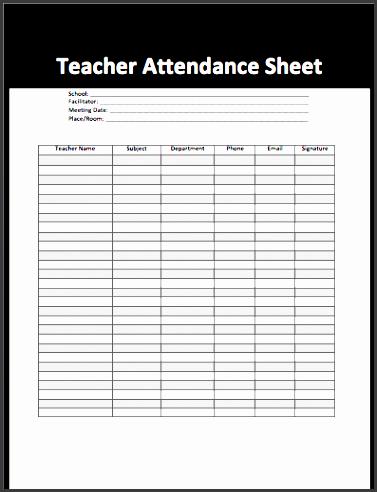 7 Attendance Sheet Template In Word Sampletemplatess