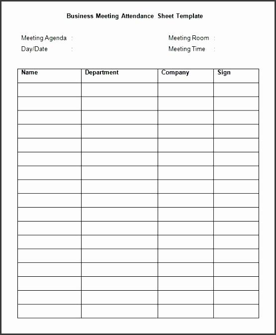 7 attendance sheet template in word