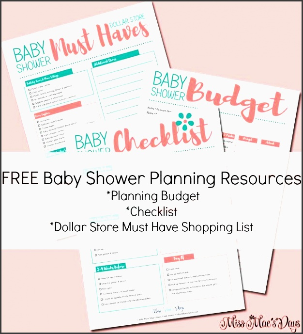 free baby shower planning resources bud planner checklist dollar store must have shopping