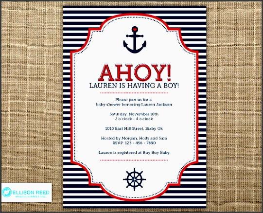nautical baby shower invitation as elegant baby shower invitation template designs for you