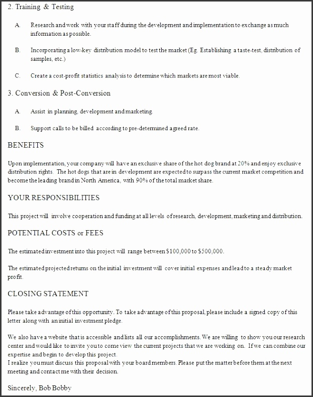 business proposal letter example 2 letter