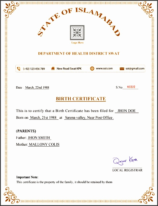 7 birth certificate example sampletemplatess sampletemplatess birth certificate template 31 free word pdf psd format yadclub Gallery