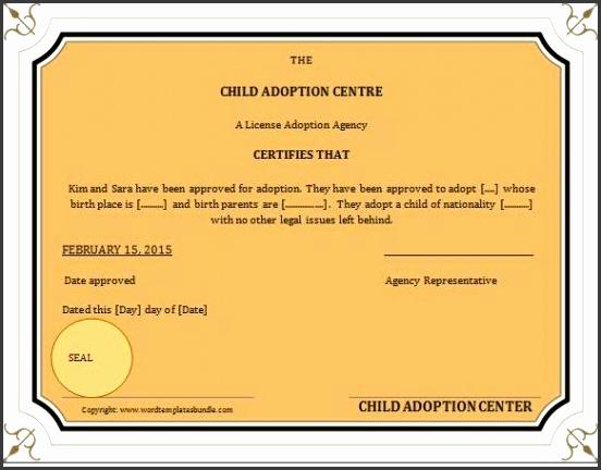 6 birth certificate templates sampletemplatess sampletemplatess adoption birth certificate template yadclub Images