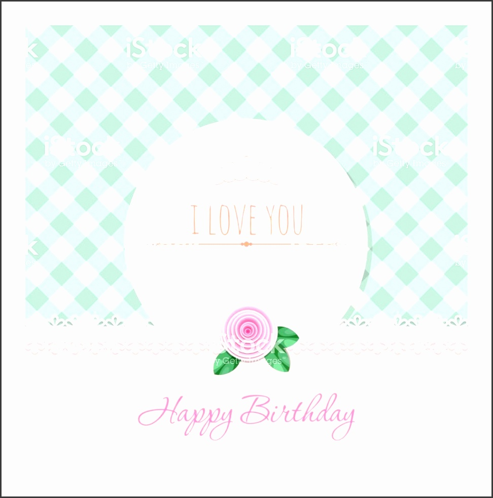 birthday greeting card template round frame on plaid background birthday greeting card template round frame on plaid background chic vector id