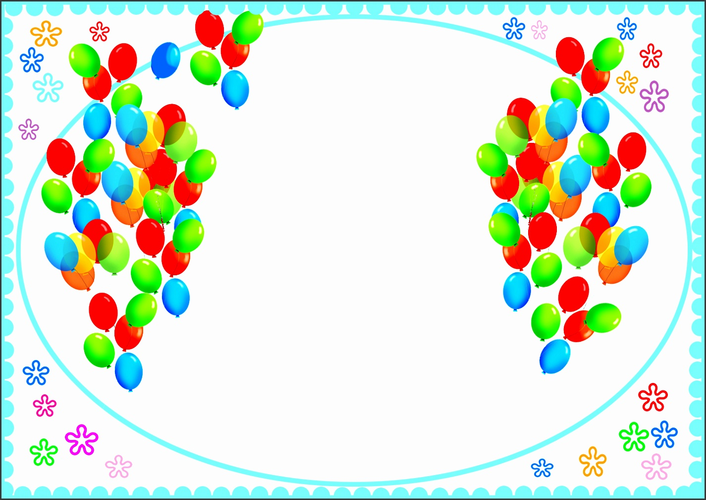 birthday card template with balloons