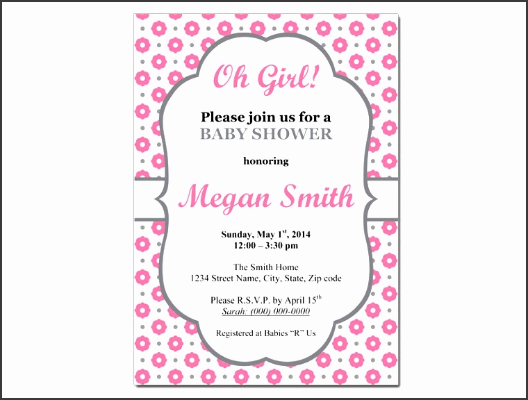 baby girl invitation template ba girl ba shower invitation templates theruntime printable