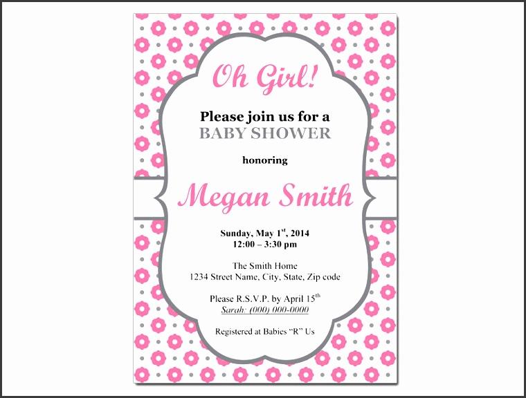 baby girl invitation template ba girl ba shower invitation templates theruntime printable