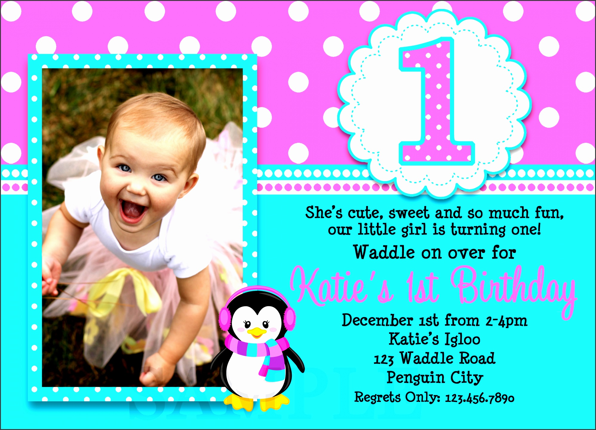 10 birthday party invitation template for baby girl 1st birthday invitations stopboris Choice Image