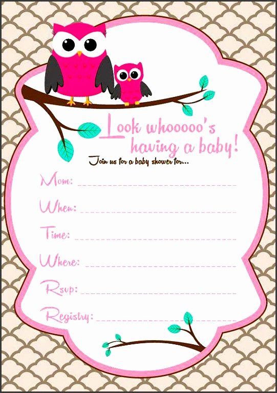 owl invitation template plus baby girl owl baby shower invitations owl birthday party invitation template 66