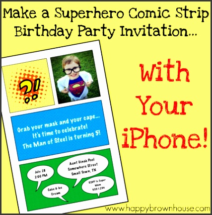 superhero invitation tutorial