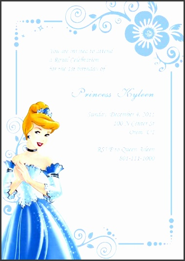 cinderella birthday invitation