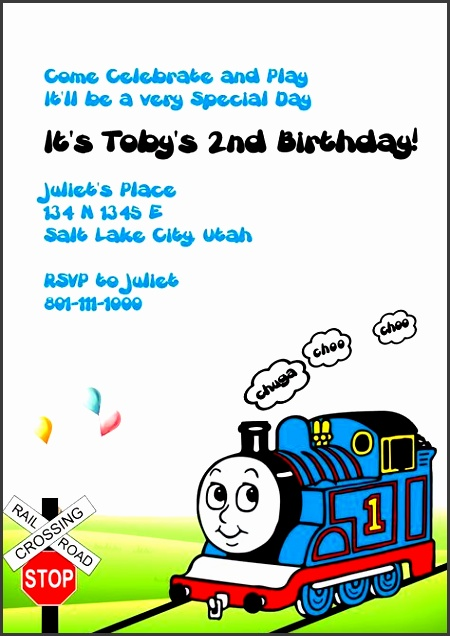 thomas the tank engine invitation â wedding invitation templates