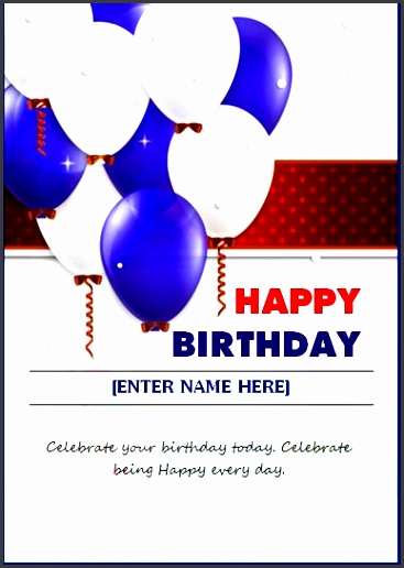 birthday wishing card template word excel templates birthday card