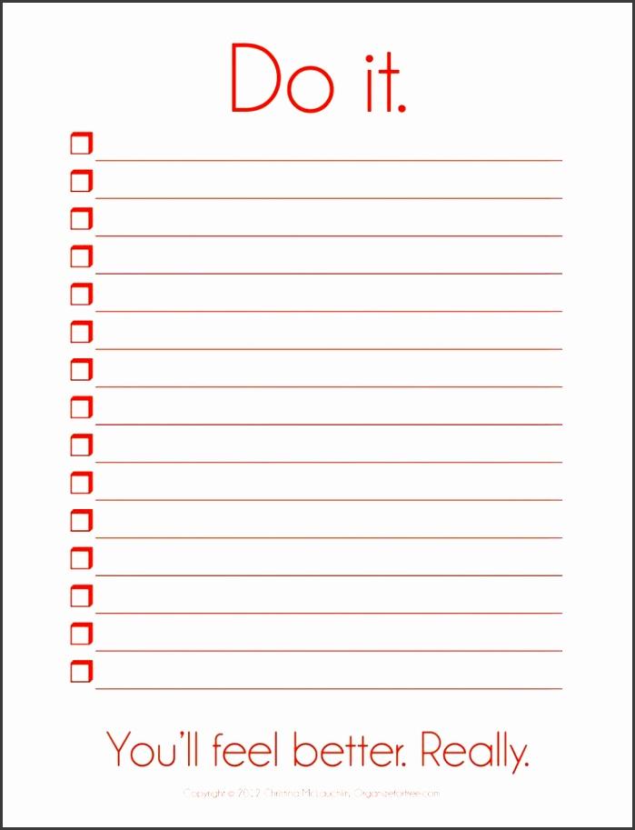 10 blank checklist template